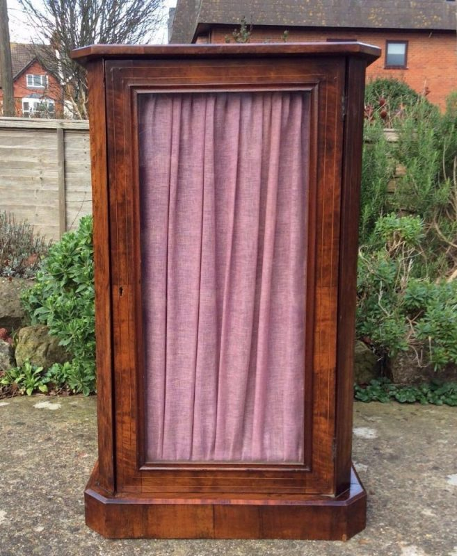 Victorian Burr Walnut side cabinet