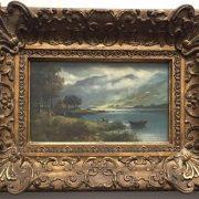 C.B.MITCHELL Scottish Oil on Canvas ( LOCH LUBNAIG ) By Callander, the Trossachs