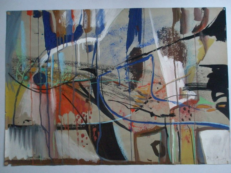 Derrick Latimer Sayer 1917-1992 Large 1979 ABSTRACT STUDY