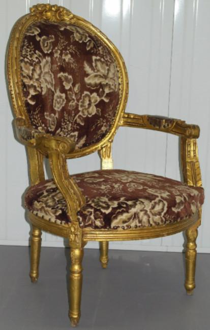 19th century French gilt occasional parlour chair